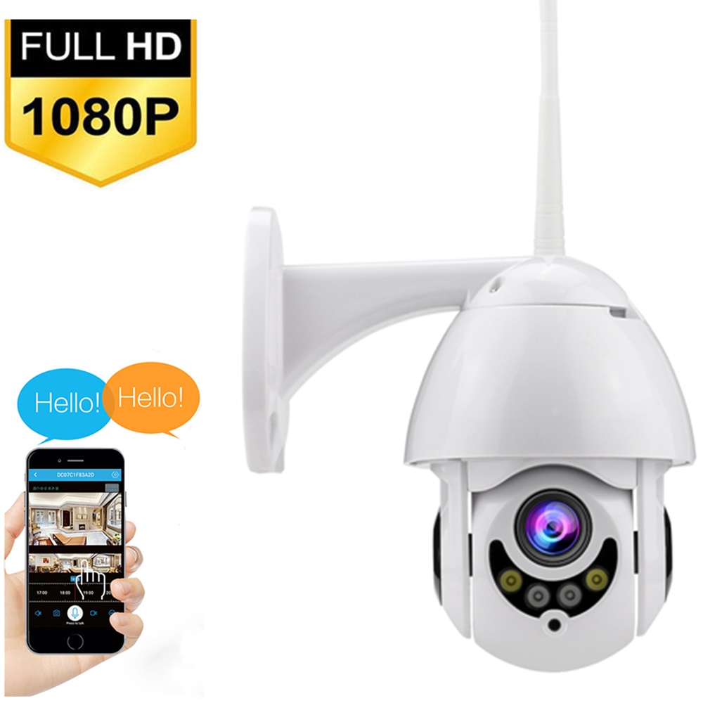 Image 1 - Full Colour 1080P WIFI Camera PTZ IP Camera Speed Dome CCTV Security Cameras Exterior 2MP IR Home Surveillance-in Surveillance Cameras from Security & Protection