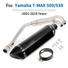 Tubo de encabeçamento do sistema completo da exaustão para yamaha T-MAX tmax 500 530 t-max 500 530 2001 - 2016 2017 2018 com assassino do db da exaustão