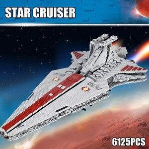 Image 2 - 05077 MOC Star Set Wars The UCS ST04 Republic Cruiser Star Destroyer Toys Building Blocks Bricks Kids Educational Gifts