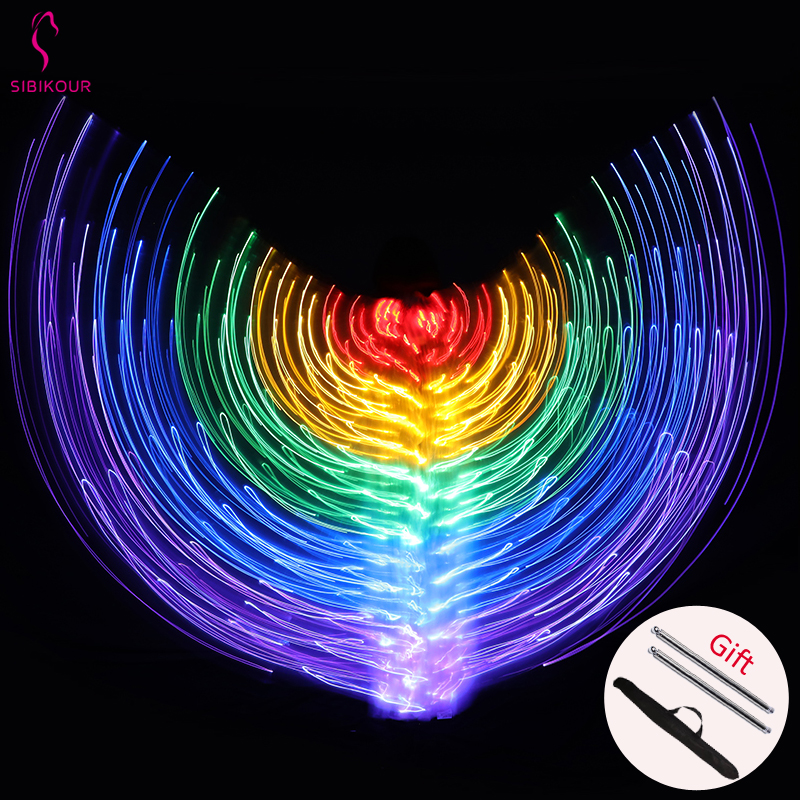 Belly Dance Isis Wings Led Isis Wings Belly Dance Accessory Wings Costume Butterfly Wings Adult With Sticks Bag For Adult Kids
