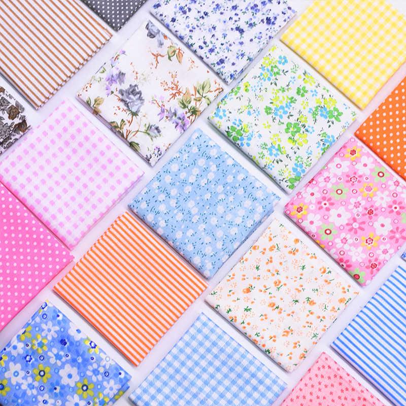 7 ชิ้น/เซ็ต 25*25 ซม.ผสมพิมพ์ผ้าฝ้าย Patchwork ผ้า DIY จักรเย็บผ้าทำด้วยมือเย็บผ้า Quilting ผ้า