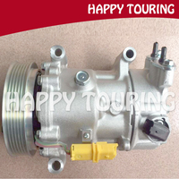 SD6C12 C2 C4 Compressor AC para Peugeot 207 307 408 Citroen 9671216280 9659875780 9651910980 9678656080 6453QK 6453QJ 6453WL