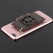 אוניברסלי Mobilephone Cooler קירור תמיכה מחזיק מאוורר רדיאטור עבור iPhone X סמסונג Huawei Xiaomi Smartphone Tablet