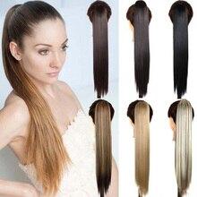 AIYEE синтетический конский хвост длинные волосы конский хвост заколка для волос парик высокая температура ремень шпилька конский хвост волосы