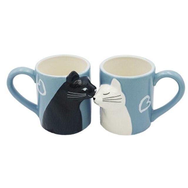 Cat Coffee Couple Mug set 6