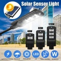 40 Вт/80 Вт/120 Вт светодиодный уличный фонарь на солнечной батарее солнечный светильник радар PIR датчик движения настенный светильник синхрон...