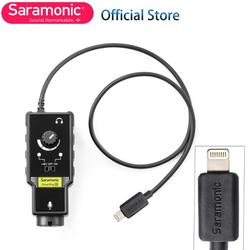 New Saramonic SmartRig Di XLR Microphone & 6.3mm Guitar Interface with IOS MFi Certified Lightning Input for iPhone X 8 7 7s