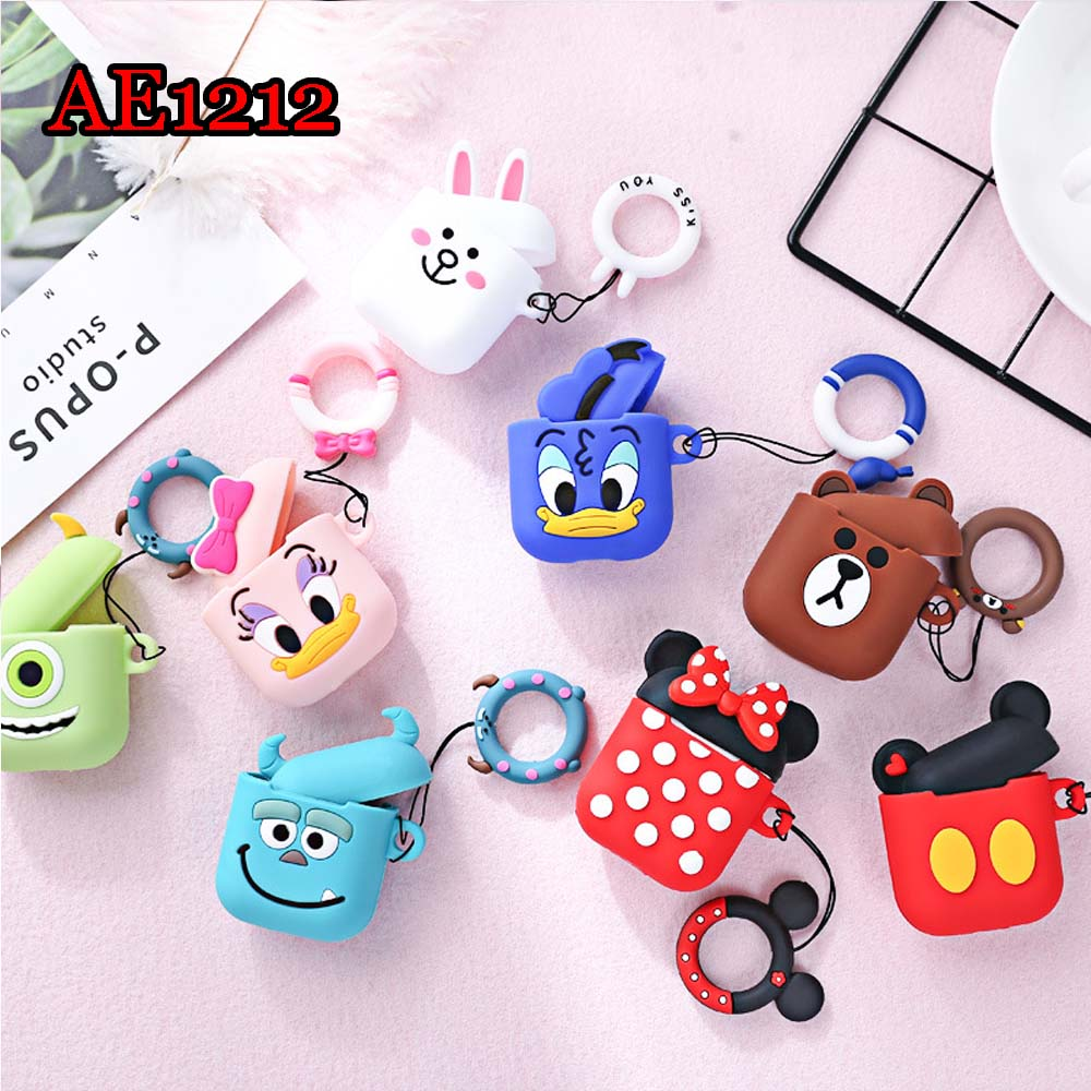 Cute AirPods 2 Saving Case Cartoon Silicon Protective Cover Air Pod Earphone Box Air Pods Headphone Carrying Box Fundas AE1212