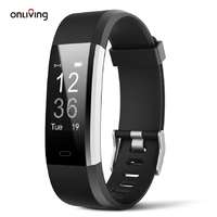 Onliving Smart Watch Fitness Tracker polsino frequenza cardiaca pressione sanguigna Smart Band bracciale Monitor salute per IOS e Android