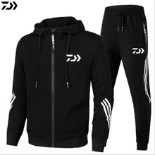 New daiwa jacket and pants high quality outdoor sport men's breathable cotton spring autumn fishing clothes set dawa shirt