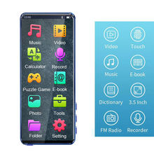 TF Card MP4 Player Full Touch Screen Color Display Learn English Video Play Bluetooth Built In Speaker Card Insert USB Charging(China)