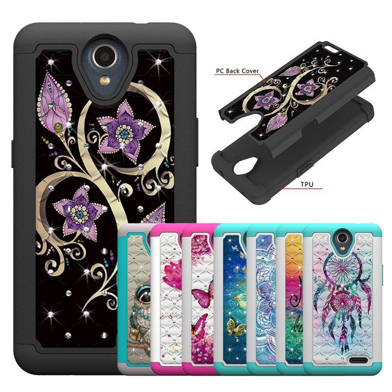 Luxury Bling Diamond Case For ZTE N9136 Prestige 2 Maven 3 Prelude Plus Overture 3 Phone Cases Back Cover Fundas Capa Coque
