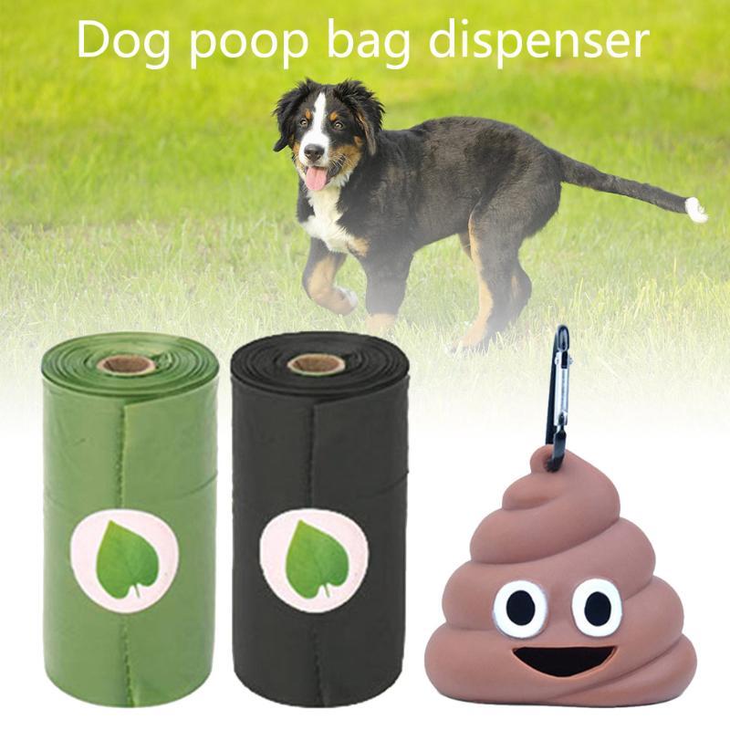 Poop Bags Set Hot Pet Dog Garbage Clean up Bags Waste Carrier Holder Dispenser