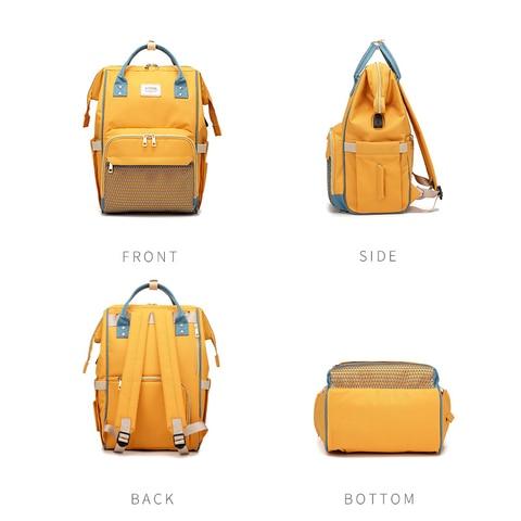 TUKATO Fashion Mummy Maternity Nappy Bag Brand Large Capacity Baby Bag Travel Backpack Designer Nursing Bag for Baby Care Lahore