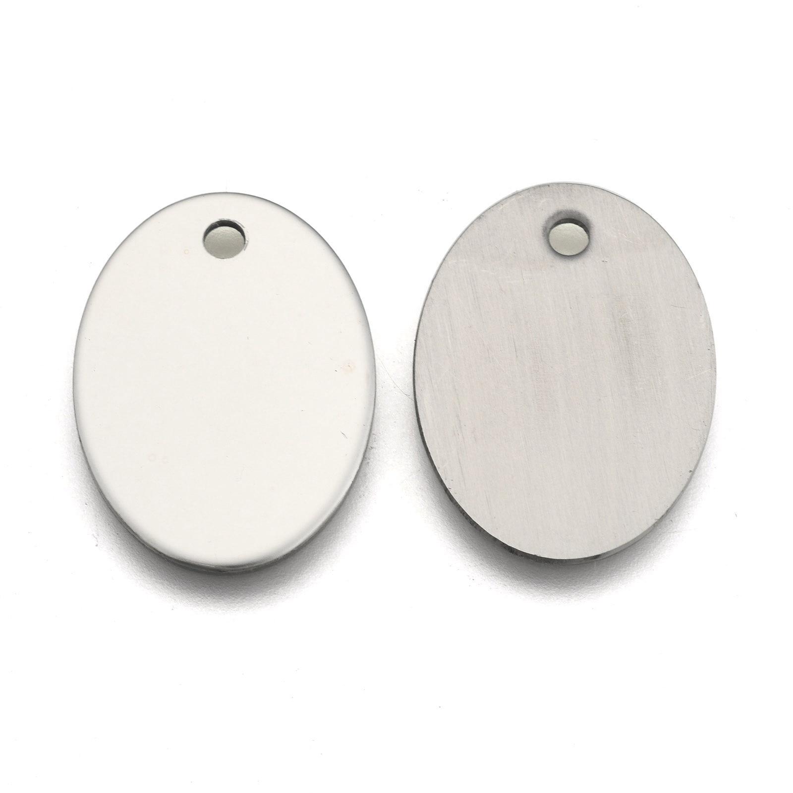 Rectangle stamping Blanc Or Acier Inoxydable 24x43mm afindings À faire soi-même Bijoux