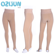 Girls Leggings Pants Stretchy-Pant Children Lace New Warm Winter Style Thick Lined Skinny