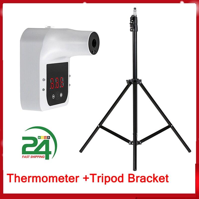 Авто Голосовая сигнализация термометр бесконтактный настенный инфракрасный термометр лоб температурный метр °C /°F переключатель термомет...