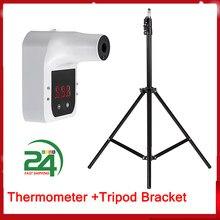 Alarme de voz automática termômetro não-contato parede pendurado termômetro infravermelho testa medidor de temperatura °c/°f interruptor termômetro
