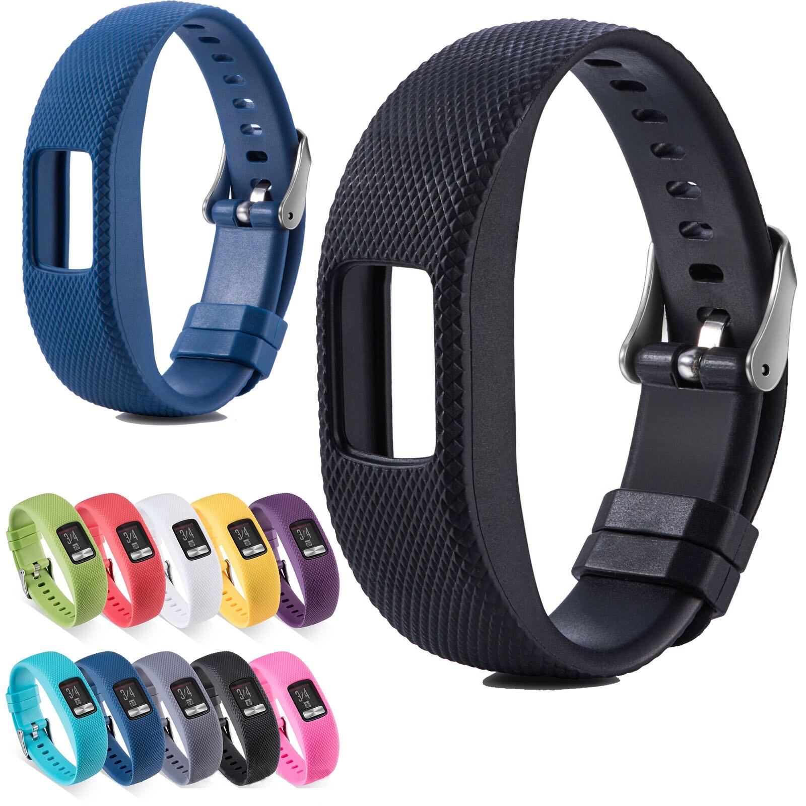 Silicone Watch Band For Garmin Vivofit 4 Sport Replacement Watch Strap For Garmin Vivofit4 Band Plaid Pattern Rubber Bracelet