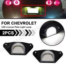2X LED Number License Plate Light Lamp For Chevy Corvette C4 C5 C6 Impala Monte Carlo Lumina SSR S10 Beretta C1500/C2500/C3500