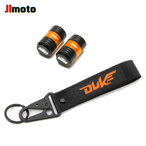 Image 2 - For KTM Duke 125 200 250 390 690 Motorcycle CNC Accessories Wheel Tire Valve Caps Cover Embroidery Key Chain Keychain