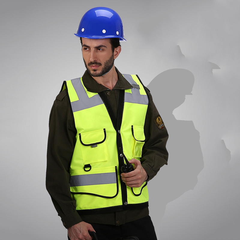 Reflective Vest With Pockets High Visibility Breathable Safety Gear Outdoor Construction Protector Tank Top in Safety Survival from Sports Entertainment