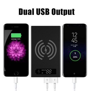Image 1 - Spliced Combined DIY 18650 Battery Case Wireless Charging Power Bank Shell Portable External Box Powerbank Protector LCD Display