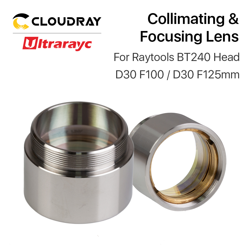 Ultrarayc Fiber Laser Focus Lens D30 F100 F125mm With Lens Holder For Raytools Laser Cutting Head BT240 BT240S