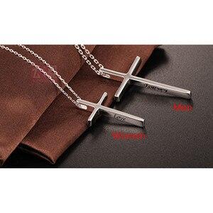 Женское Ожерелье с крестом Buyee, 100% Серебро 925 пробы, ожерелье для пар