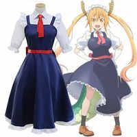 DM Cartoon Anime Kobayashi Frau Little Dragon Maid Tohru Cosplay Kostüm Frauen Kobayashi San Chi Keine Maid cos Komplettes Kostüm