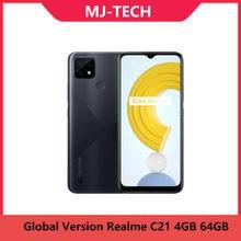 Versão global realme c21 4gb 64gb android 10 6.5