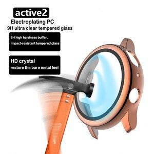 Защитный чехол для Samsung galaxy watch active 2, Матовый Жесткий чехол из закаленного стекла с полным покрытием для Samsung galaxy watch 2, 40 мм, 44 мм