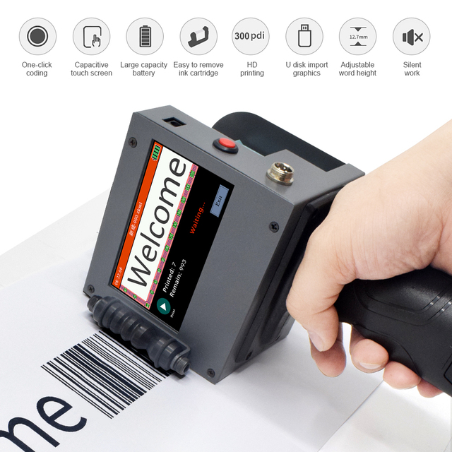 شاشة تعمل باللمس المحمولة طابعة محمولة صغيرة النافثة للحبر تسمية آلة الطباعة الذكية USB رمز الاستجابة السريعة النافثة للحبر تسمية الطابعة 2 50.8 مللي متر