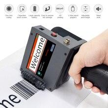 Dokunmatik ekran el taşınabilir yazıcı Mini mürekkep püskürtmeli etiket baskı makinesi akıllı USB QR kod mürekkep püskürtmeli etiket yazıcı 2 50.8mm