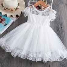 Vestidos para niña, novedad de verano del 2020, ropa para niña, vestidos de fiesta para niña, vestido de malla princesa de encaje blanco para niña de 3 a 10 años