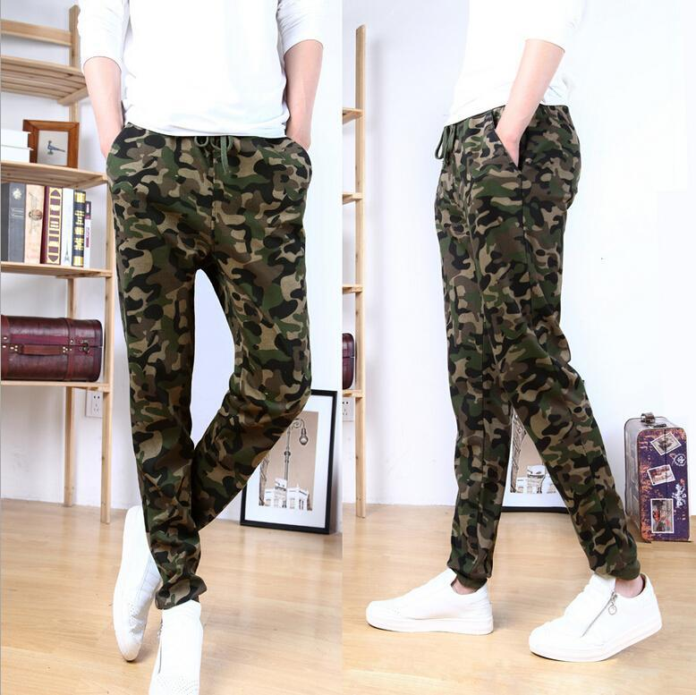 Autumn And Winter Hot Models Fashion Trending Men Casual Camouflage Sports Skinny Harem Pants