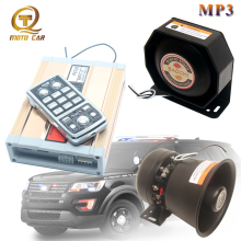 Alarm Siren MP3 Bluetooth sound 12V horn for car wireless 200W police siren vehicle MIC system Megaphone Multi-tone