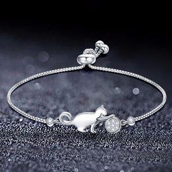 SIPENGJEL Women's Hand Bracelets Cat And Ball Charm Bracelets On Hand For Women Friends Box Chain Jewelry Gift 2021 1