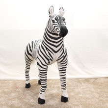 Wholesale Stand Plush Zebra Simulation Stuffed Toys Children Photography Props Home Decoration Animals zoo Zebra Model Kids Gift