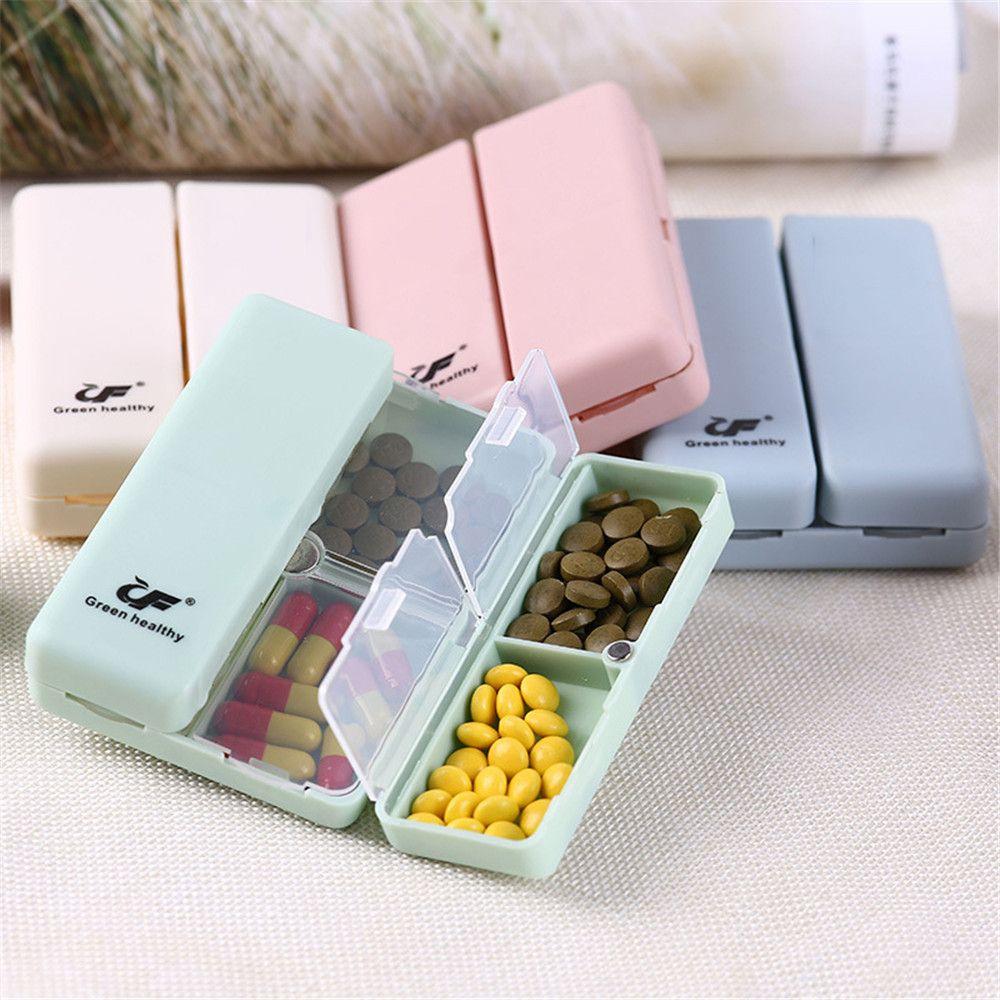 1 шт. портативная коробка для таблеток складной чехол разделитель для таблеток Еженедельный дорожный держатель для лекарств Удобный 7 решеток контейнер для хранения таблеток|Многоразовые бутылки|   | АлиЭкспресс