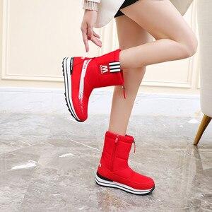 Image 4 - Fedonas inverno novo quente confortável feminino apartamentos plataforma botas de neve com zíper botas de tornozelo feminino casual escritório sapatos básicos mulher