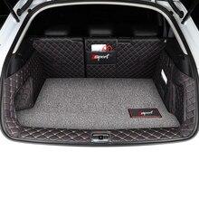 Lsrtw2017 Leather Car Trunk Met Cargo Liner for Audi Q3 2012 2013 2014 2015 2016 2017 2018 Rug Carpet Interior Accessories