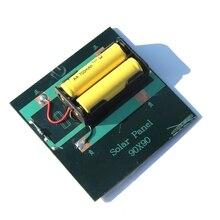 1 Вт 4 в перезаряжаемая AA батарея Солнечное зарядное устройство с базой для 2xAA батареи Зарядка напрямую