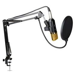 BM700 Studio Microphone for Computer Karaoke Microphone with Mic Stand Professional Condenser Microphone Kit Studio Mikrofon