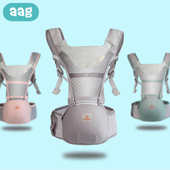 AAG Baby Carrier Ergonomic Backpack Sling Wrap Breathable Child Infant Hipseat Waist Stool Front Kangaroo Baby Hip Seat Sitter lightweight breathable baby sling waist stool backpacks carries multiple back child stool scientific design to ease the load