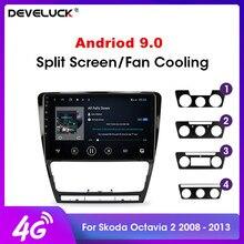 """10.1 """"2Din 안드로이드 8.1 2007 2014 폭스 바겐 SKODA Octavia 2 A5 자동차 라디오 멀티미디어 플레이어 DSP GPS 네비게이션 헤드 유닛"""