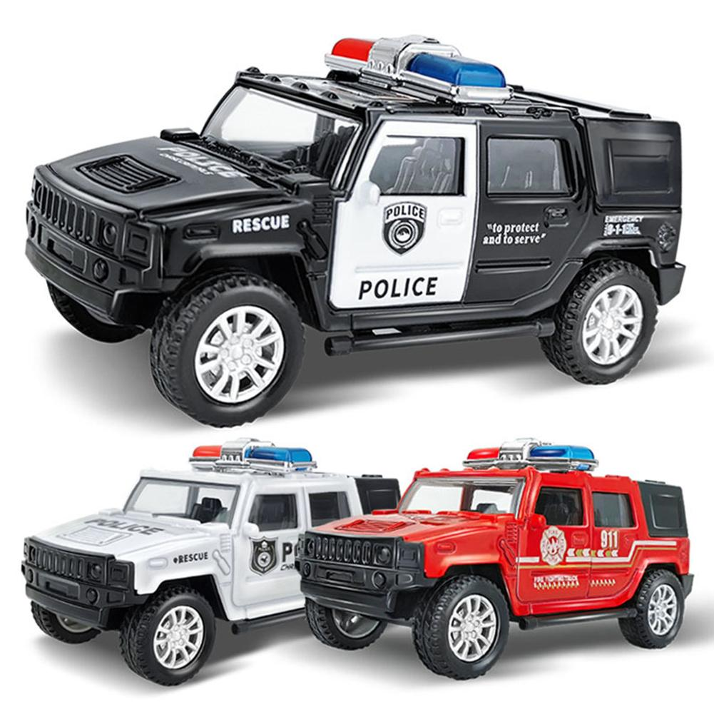 1/36 Simulation Police Car Vehicle Pull Back Truck Model Kids Toy Christmas Gift