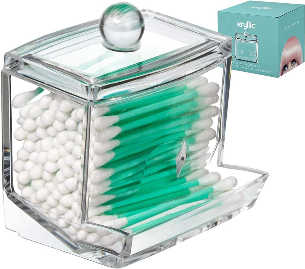 Box Transparent Container Jewelry-Organizer Storage-Holder Swabs Cosmetic Makeup Cotton-Pad