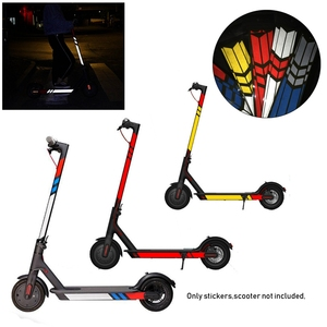 1 Set 20 Colors Reflective Styling Stickers Night Safety Skateboard Warning Strip Electric Scooter Parts for Xiaomi Mijia M365(China)