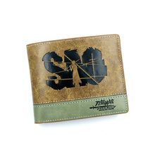 Аниме Sword Art онлайн кошелек из искусственной кожи Мужской и Женский Короткий держатель для карт кошелек